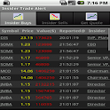 Insider Stock Trading Alert icon