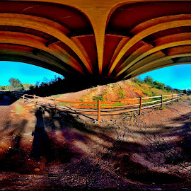 360 under a bridge by Stephen Schwartzengraber - Buildings & Architecture Bridges & Suspended Structures ( under a bridge, colorful, arizona, artistic, 360 )
