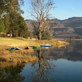 Lake Naverone Southern Drakensberg by Gerhard van Niekerk - Landscapes Travel