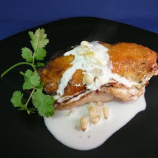 Stuffed Chicken Breast in a White Wine Cream Sauce