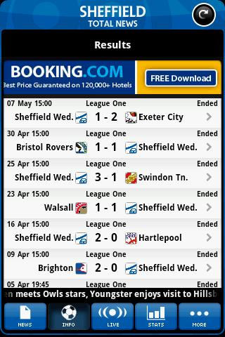 sheffield-wednesday-total-news for android screenshot