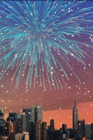 Screenshot of City Fireworks Live Wallpaper