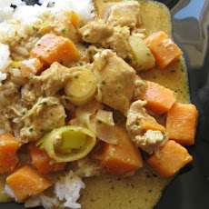 Yellow Curry Chicken and Sweet Potatoes