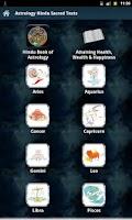 Screenshot of Astrology Hindu Sacred Texts