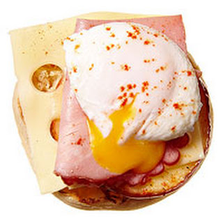 Apple, Ham, and Swiss Open-Faced Egg Sammy