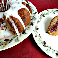 Cranberry Orange Walnut Coffee Cake with Greek Yogurt