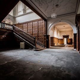 Derelict Manor House - Lotus Hall by Alan Duggan - Novices Only Objects & Still Life ( explore, hall, wood, house, forgotten, exploring, manor, urban, urbex, lotus, stairs, staircase, derelict, abandoned )