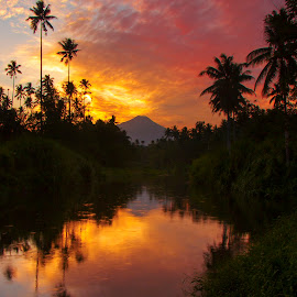 Sunrise in dark by Archangel Michael - Landscapes Sunsets & Sunrises