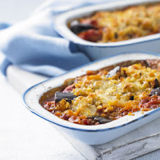Onion, Aubergine And Tomato Bake