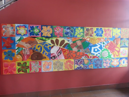 Cultural Art and Orchid Mural