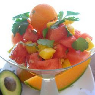 Melon, Mango, and Avocado Salad
