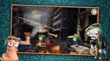 Screenshot of Worms VS Zombies