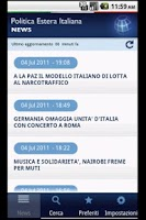 Screenshot of Politica Estera Italiana