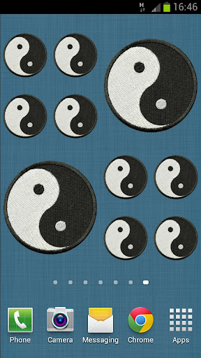 Ying Yang Patch Sticker Widget