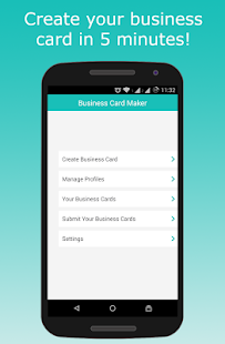 Business card maker business card documents marketing app business card maker screenshot for android reheart Images