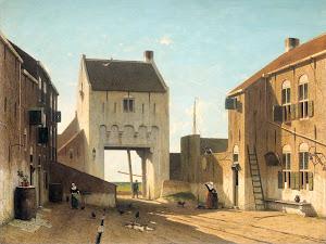 RIJKS: Jan Weissenbruch: A Town Gate in Leerdam 1870