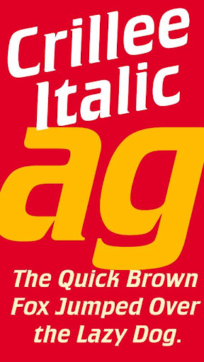 Crillee Italic FlipFont