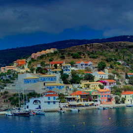Assos by Stratos Lales - City,  Street & Park  Historic Districts ( water, houses, village, colours, island )
