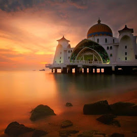 The floating Mosque - Malacca by Simon Bond - Buildings & Architecture Places of Worship