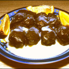 Stuffed Grape Leaves With Egg-Lemon Sauce by Sy