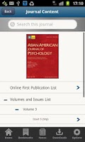 Screenshot of APA Journals Pro