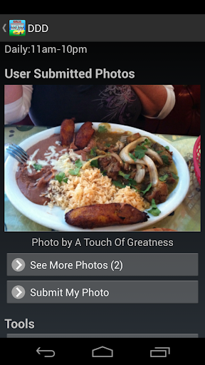 Diners Drive ins n/aes Finder - screenshot