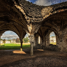 Waverley Abbey III by Graham Markham - Buildings & Architecture Decaying & Abandoned ( wavelly, bracketed, hdr, ruins, %d, abbey, mkii )