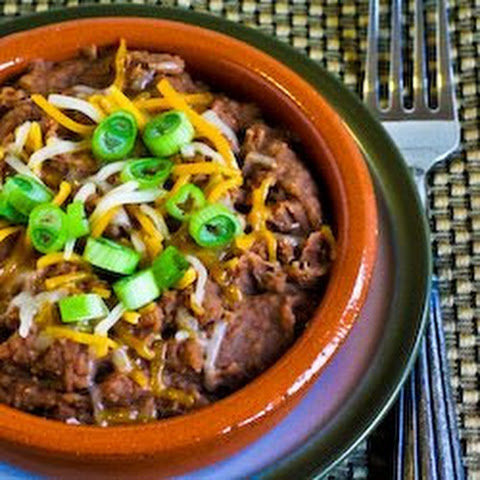Pressure Cooker Refried Beans with Onion, Garlic, and Chiles