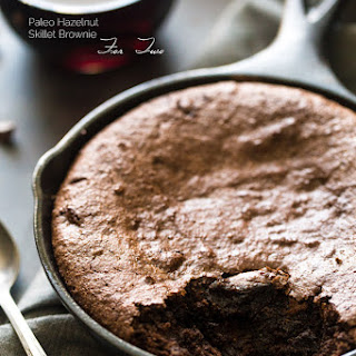Paleo Hazelnut Skillet Brownie for Two