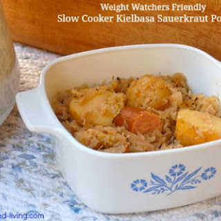 Easy Slow Cooker Kielbasa Sauerkraut Potatoes Dinner