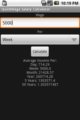 QuickWage Salary Calculator
