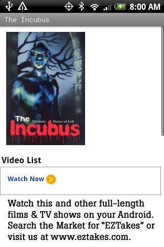 The Incubus Movie
