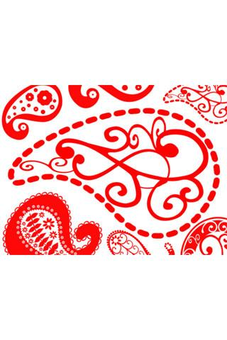 Paisley theme red 1.2