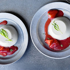 Strawberry & Tarragon Panna Cotta