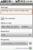 Screenshot of Group SMS Scheduler