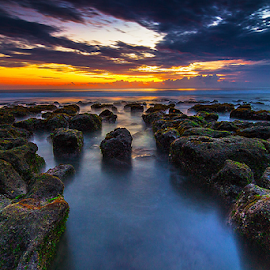Force to Serenity by Budi Astawa - Landscapes Sunsets & Sunrises ( bali, selabih, tabanan )