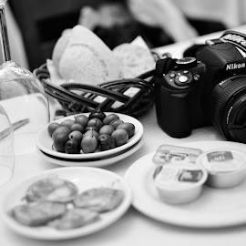 Descansando by Tacito Alexandro - Food & Drink Meats & Cheeses ( black and white,  )