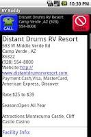 Screenshot of RV Buddy Park Camping Locator