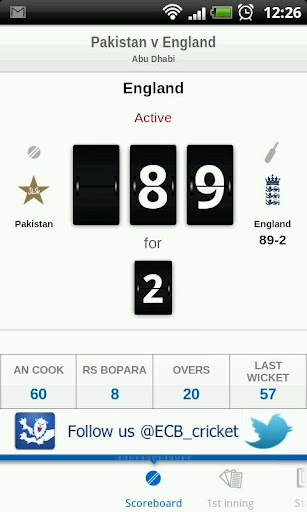 ecb-cricket for android screenshot