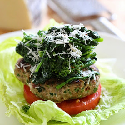 Broccoli Rabe Turkey Burgers