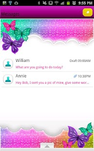 GO SMS - Bright Rainbow Sky - screenshot