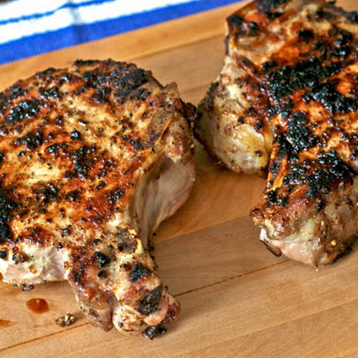 Porcini-Rubbed Pork Chops