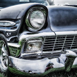 Chevy Chrome by John Arnold - Transportation Automobiles ( hdr, vintage, chrome, chevy, classic )