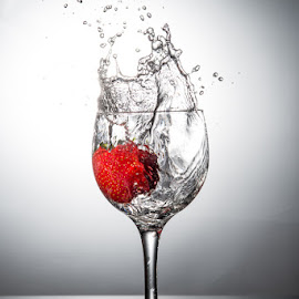 Strawberry splash by Terry Mendoza - Food & Drink Fruits & Vegetables