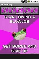 Screenshot of Bachelorette Frog