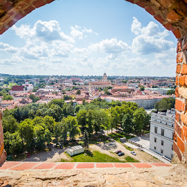 Vilnius by Vaidotas Maneikis - City,  Street & Park  Historic Districts ( vilnius, oldtown, castle, lithuania, gediminascastle,  )