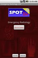 Screenshot of Emergency Radiology Lite