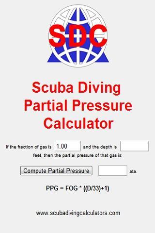 Scuba Partial Pressure