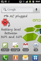 Screenshot of Battery indicator - Widget!