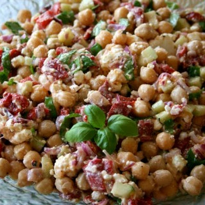 Ten-Minute Chickpea Salad with Feta and Basil